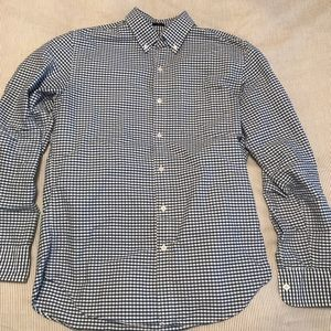 Slim Fit Gingham J Crew Button Down Oxford